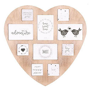 10 Photo Heart Picture Frame