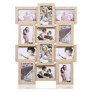 12 Pictures Wooden Frame