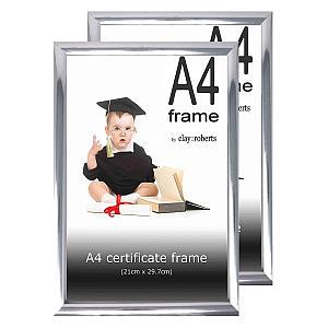 2 A4 Silver Photo Frames