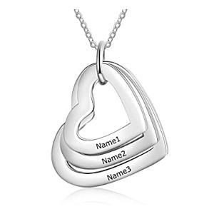3 Heart Pendant Necklace