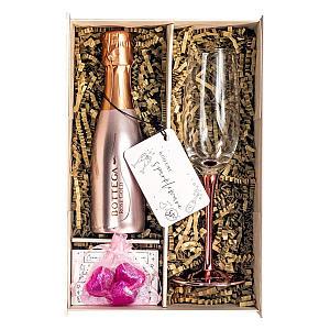 Bottega Rose Set with Champagne Flute