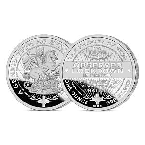 Collectable Silver Lockdown Coin