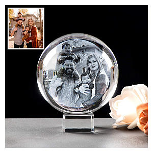 Crystal Ball Photo Frame