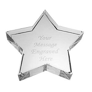 Crystal Glass Star Paperweight