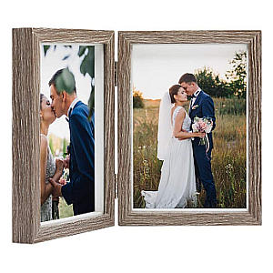 Double Desktop Photo Frame