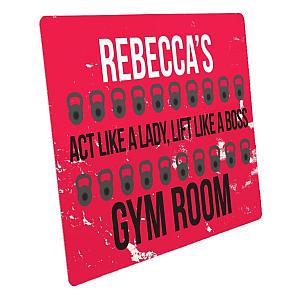 Girls Gym Room Sign