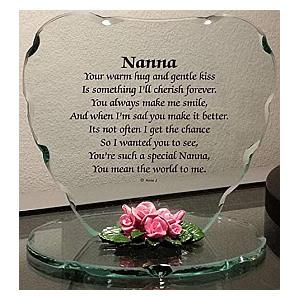 Glass Nanna Plaque