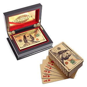 Gold Playing Cards with Gift Box