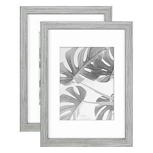 Grey Wooden Photo Frame