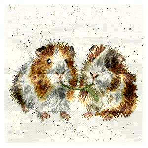 Guinea Pig Cross Stitch Set