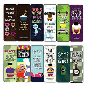 Gym Bookmarks Pack