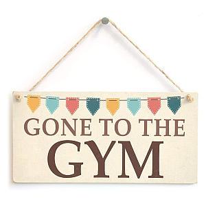 Gym Home Sign