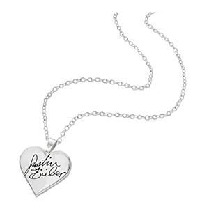 Justin Bieber Signature Heart Necklace