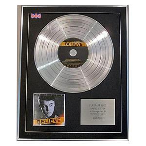 Limited Edition CD Platinum Disc - Believe