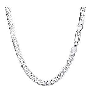 Men's Silver Cuban Chain Necklace