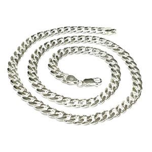 Mens Silver Curb Chain Necklace