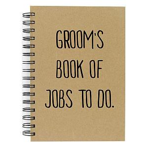 Novelty Groom Notebook