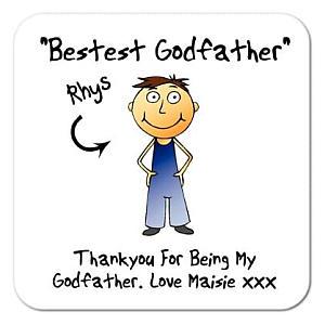 Personalised Godfather Coaster