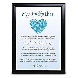 Personalised Godfather Poem