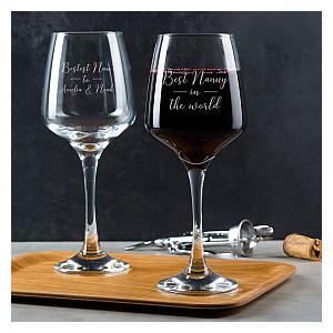 Personalised Nanny Wine Glass