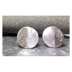 Silver Disk Cufflinks