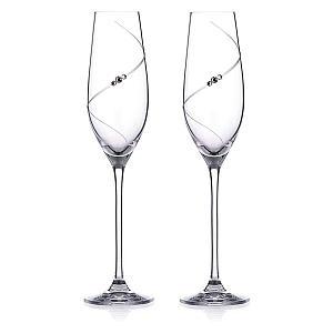 Swarovski Champagne Glass Set