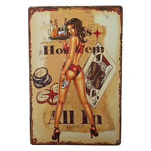 Texas Poker Tin Sign