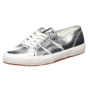 Unisex Low Top Silver Trainers