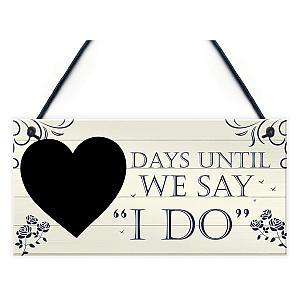 Wedding Countdown Chalkboard