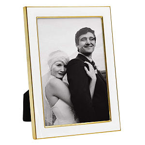 White and Gold Photo Frame