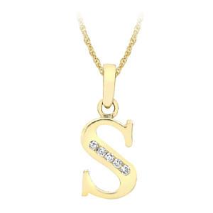 Women's Gold Initial Pendant