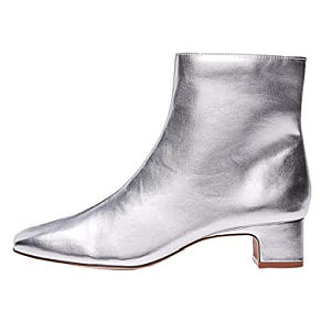 Womens Silver Ankle Boot