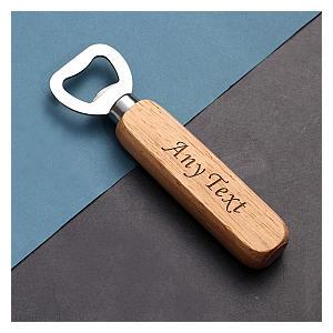 Wooden Handle Bottle Opener