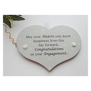 Congratulations on Your Engagement Plaque