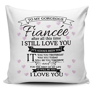 Fiancee I Love You Cushion Cover
