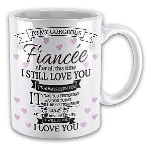 I Love You Fiancee Mug