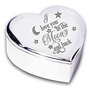 Inscribed Heart Trinket Box