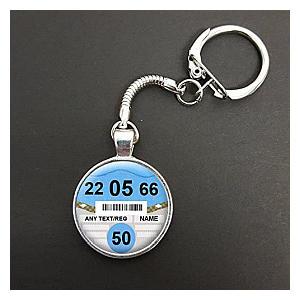 Personalised Car Tax Disc Key Ring