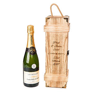 Personalised Engraved Wooden Wine/Champagne Box