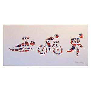 Personalised Triathlon Wall Art