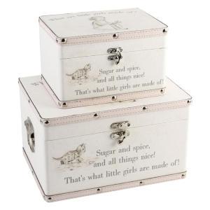 Set of 2 Keepsake Storage Cases