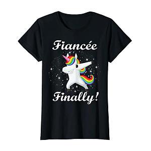 Womens Unicorn Engagement T-Shirt