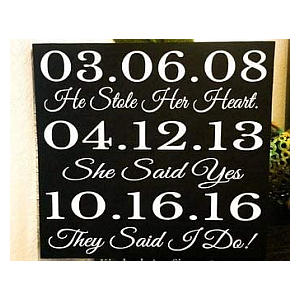 Wooden Personalised Dates Plaque