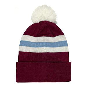 Aston Villa Colours Bobble Hat