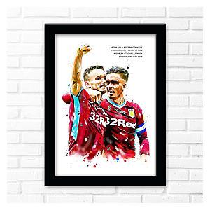 Grealish and McGinn Framed Poster