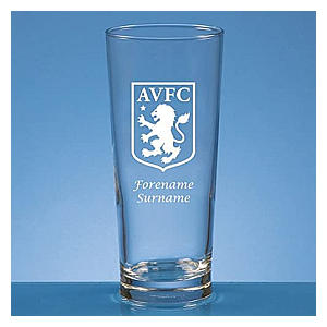 Personalised Aston Villa Pint Glass